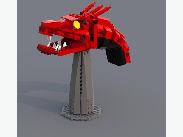 Lego Moc Custom Lego Smaug Pdf Instructions Saanich Victoria