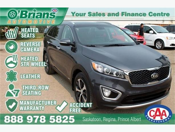 2016 Kia Sorento EX+ - Accident Free w/Mfg Warranty