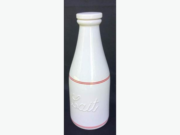 Lovely Beauceware Milk Glass Milk/Lait bottle,