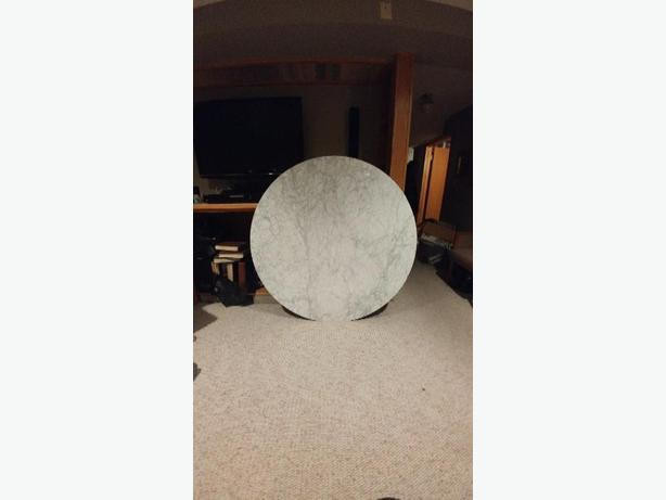 "real marble dining table top, 57"" diameter"