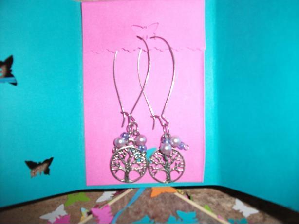 Handmade Tree of Life wire earrings