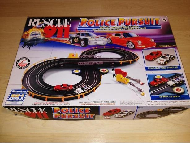 RARE Marchon Rescue 911 Police Pursuit 1993 Slot Car Racing Track