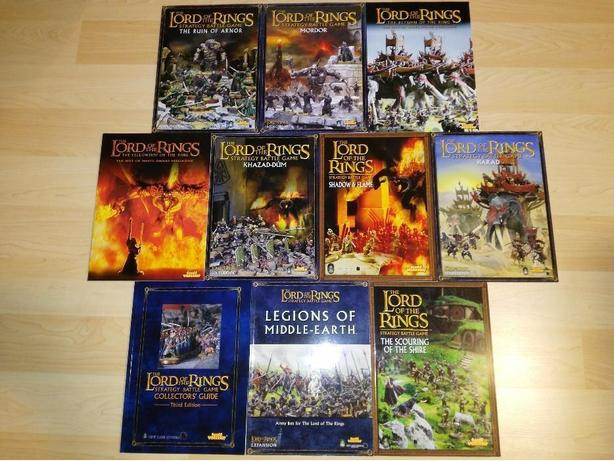 Lot Of 10 Games Workshop Lord Of The Rings Strategy Battle Games & Guides