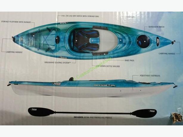 2 Pelican Odyssey Kayaks - Used very little