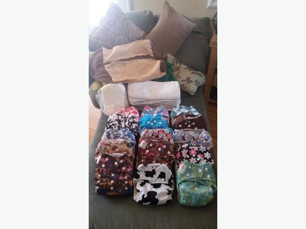 Great condition cloth diaper system package #1