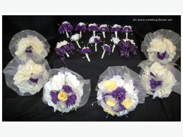 21 PIECE WEDDING FLOWER SET