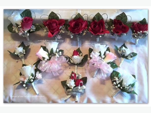 33 piece wedding flower package