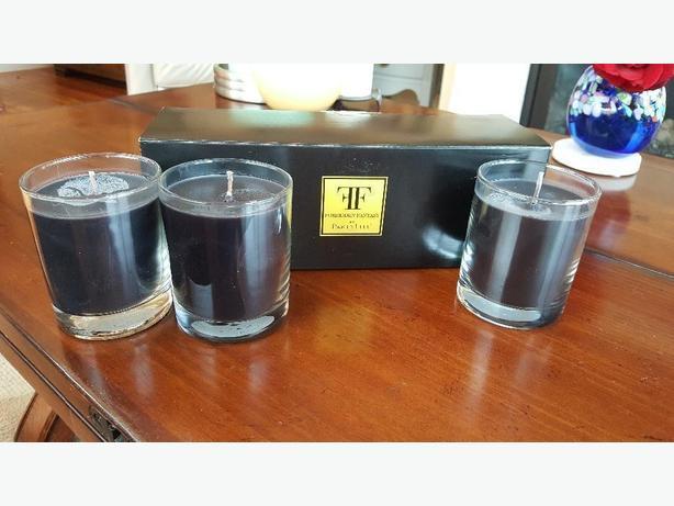Partylite  Forbidden Fantasy Black Scented Jar Candles x 3