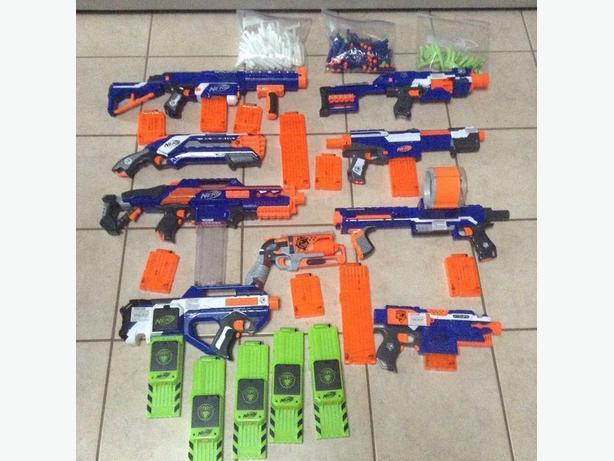 NERF GUNS - HUGE COLLECTION $75 or BEST OFFER