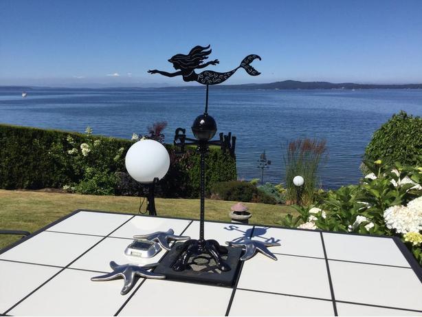 Cast Iron Mermaid Tabletop Weather Vane