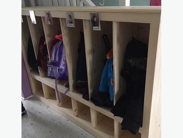 6-Unit Coat Locker for childcare centres