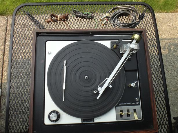 Record Player Garrard Zero 100c Vintage Professional