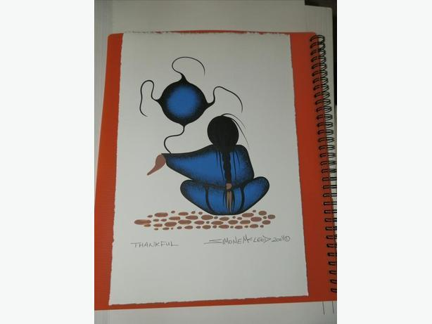 "7.5 x 11 Simone McLeod ""Thankful"" - an original work"