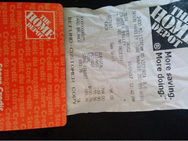 home Depot gift card value is 893.00 West Shore: Langford,Colwood ...