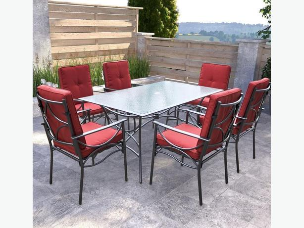 7 pc. Outdoor Dining Set with Umbrella
