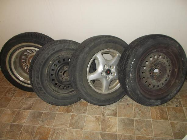 4 Tires / Rims (1 Motomaster, 2 Good Year, 1 Michelin)