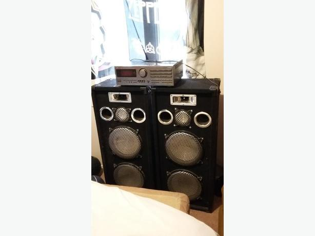 Reciever and speakers