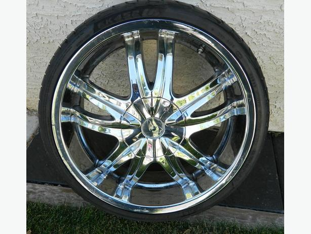 "ALBA SLICE 20"" CHROME RIMS/RUBBER"