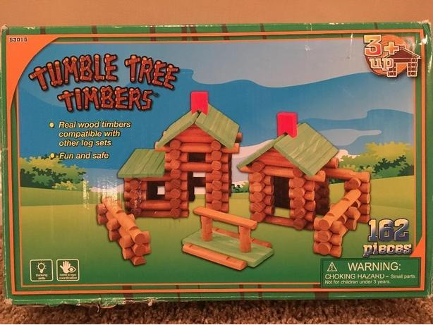 Tumble Tree Timbers 162 Piece Log Building Set