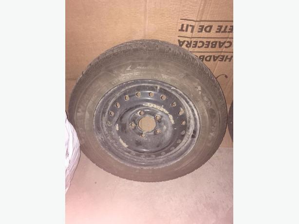 2 Winter Tires + Rims - 195/65R15