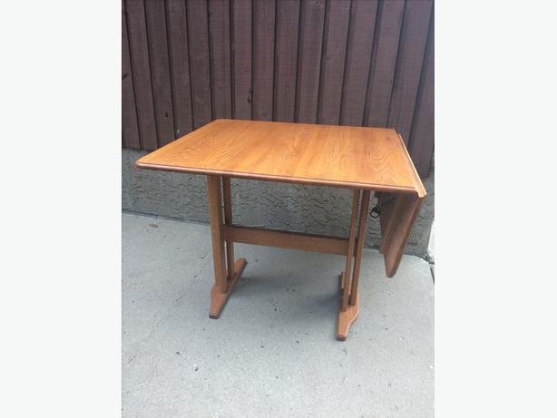 Oak Table, Side Drop Leaf