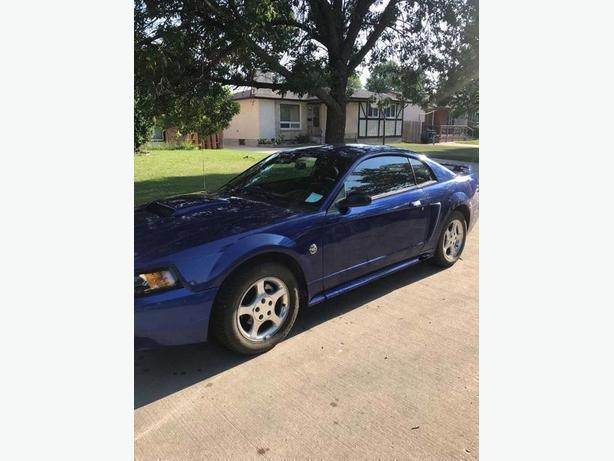 2004 Blue 40th anniversary Ford Mustang