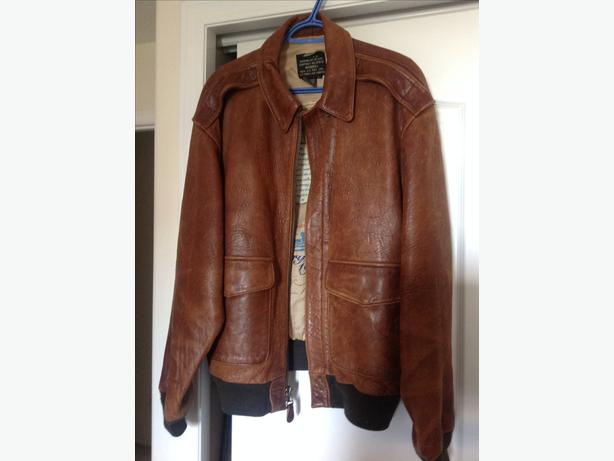 Averex Leather Bomber Jacket
