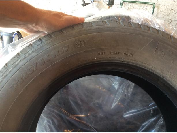 Tires P225/65R17 for SUV