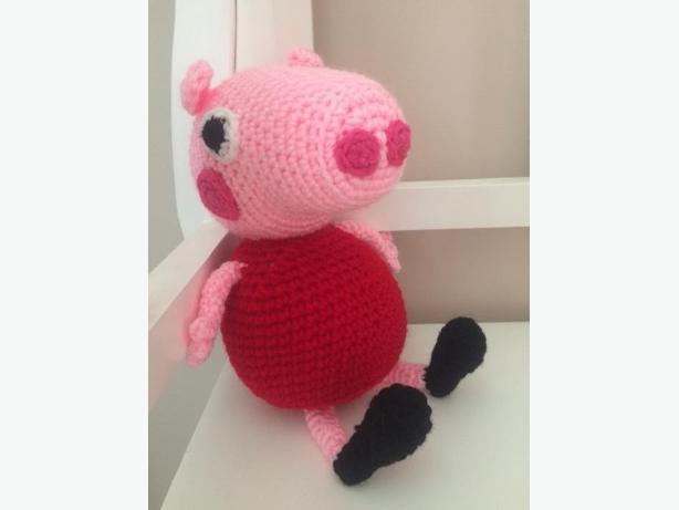Hand Crocheted Peppa Pig