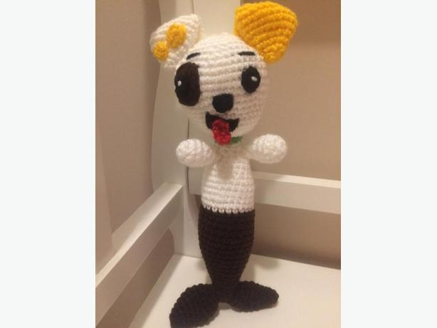 Hand crocheted bubble guppie