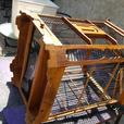 Teak & Wire Domed Bird Cage Beautiful