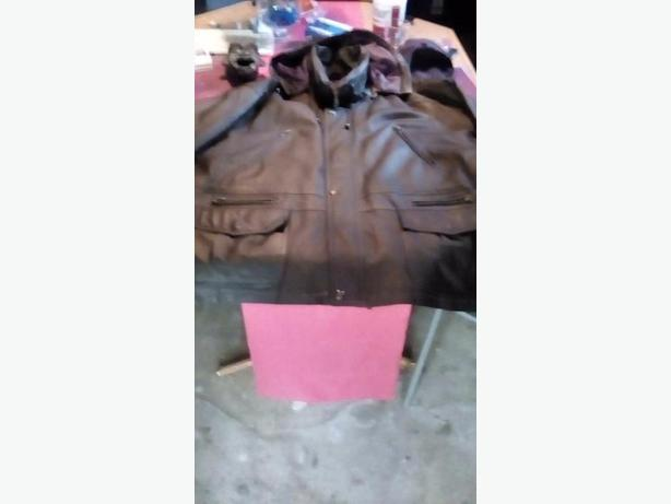 3XXX mens leather coat