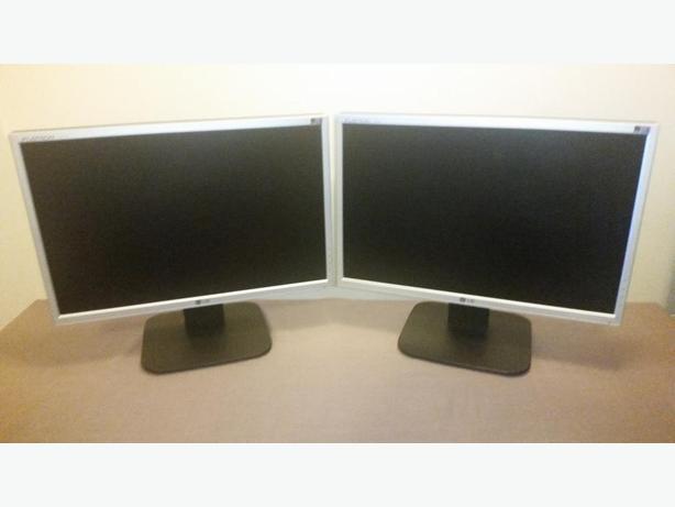 """Dual matching 19"""" LCD Monitors"""