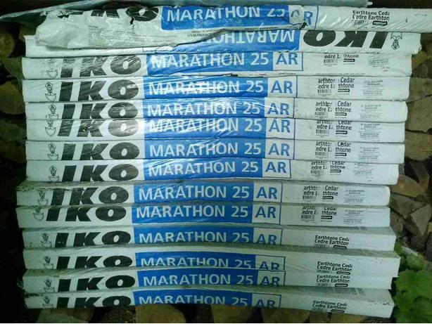 14 boxes of IKO Marathon 25 AR medium brown roofing shingles