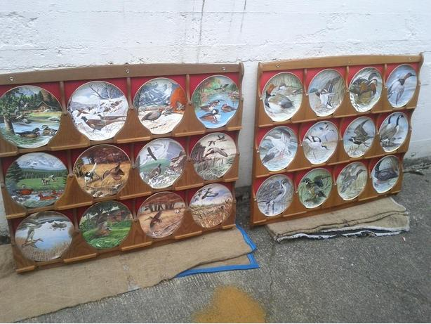 Set of 12 Collector Plates with Display