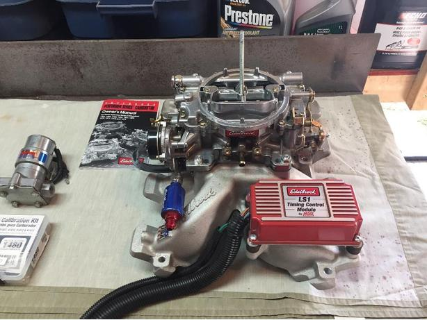 Ls Swap - Carb Ls - Edelbrock 7118/1413 w/ Holley Blue
