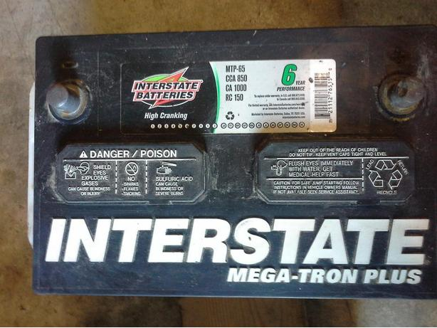 INTERSTATE 850CA BATTERY