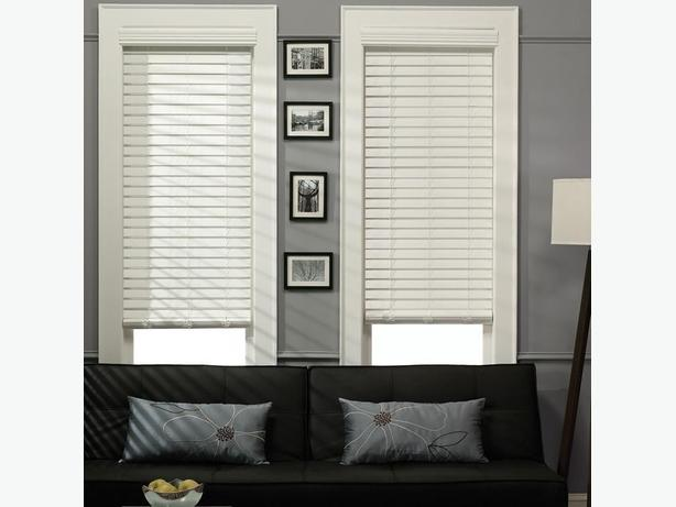 "2"" White Faux Wood Blinds"