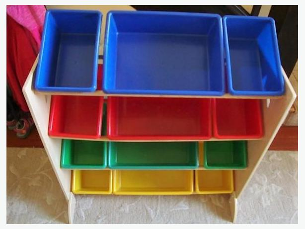 Imaginarium Storage Bin Rack - Like New Condition