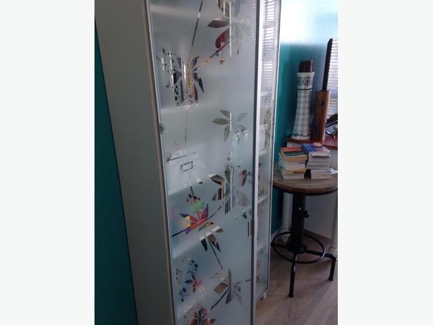 ikea billy bookshelf and glass doors
