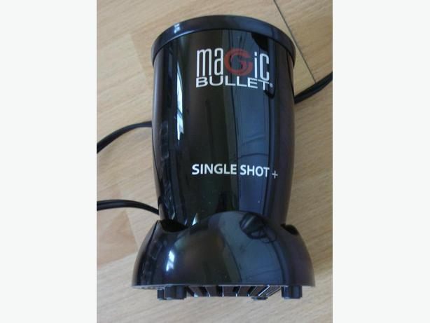 Magic Bullet Single Shot+ with 4 cups and two blades