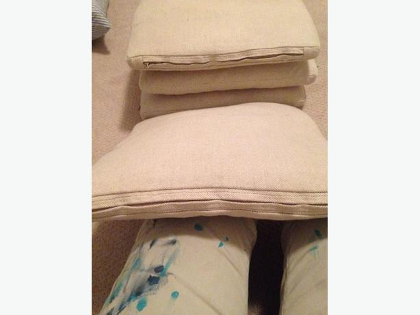 5 pillows and inserts