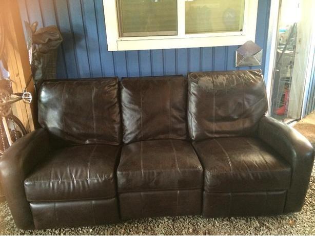 FREE: Leather-like recliner sofa