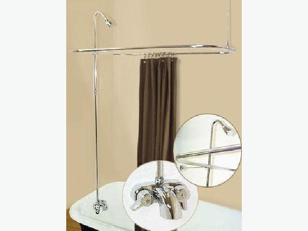 Vintage SHOWER CURTAIN BAR FOR CLAWFOOT TUB