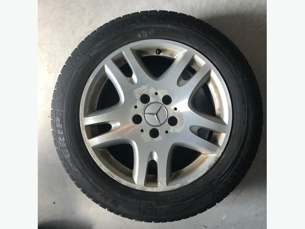 4 Mercedes Rims with 205/60/R16 Semperit Winter Tires.