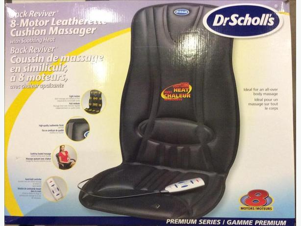 Dr. Scholls Leatherette 8 Motor Massage Chair Cushion