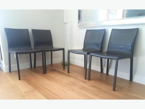 Free leather dining chairs (4)