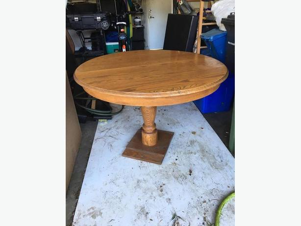 Antique Oak Table and Chairs Set