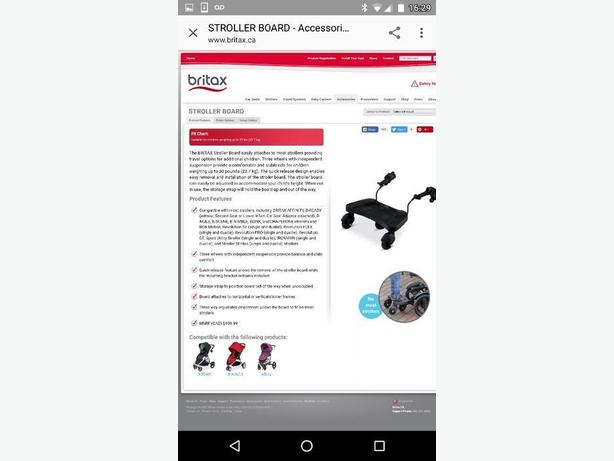 WANTED: Britax B Ready stroller board