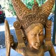 Large teak carving from bali